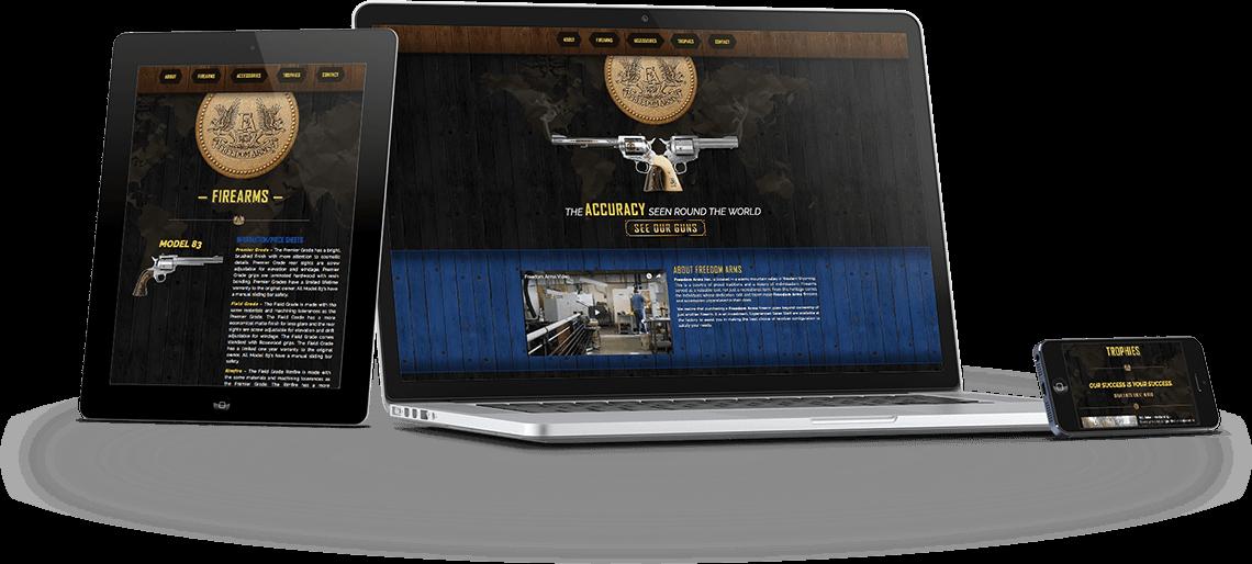 Web Design - Freedom Arms